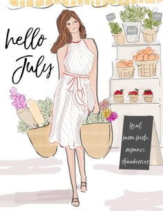 Hello July by Heather Stillufsen Hello Weekend, Bon Weekend, Hello Summer, Happy Weekend, Days And Months, Months In A Year, 12 Months, Summer Months, Illustrations