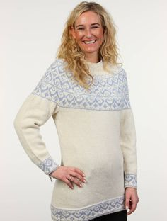 Oman sweater - inspired by an arabic kummar from Oman. Knitted in BabySilk from Du Store Alpakka.