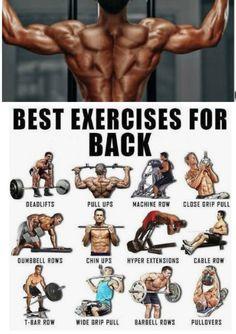Best Workout For Back GYM bodybuilding workout gym fitness bodybuilders gymworkout SQUAT Musclebuilding Backworkout gymexercise sports fitnesstips workouttips Gym Back Workout, Traps Workout, Good Back Workouts, Gym Workout Chart, Gym Workouts For Men, Gym Workout Tips, Fun Workouts, Men Exercise, Good Back Exercises