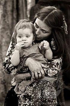 Gypsy woman & baby