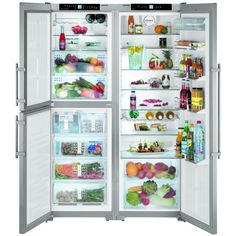 This side by side fridge and freezer has a total capacity of 661 litres with a large fridge, frost free freezer and separate biofresh refrigerator. Finished in stainless steel