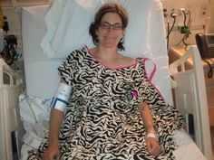 Esther has a major surgery while staying wildly chic, comfortable, and covered while on the The Doctors TV show! #annieandisabel #hospital #gown #dignity