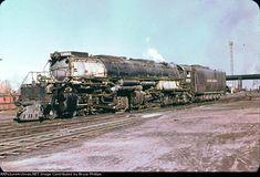 UP 4004 - 4-8-8-4 Big Boy in 1955 Laramie WY.