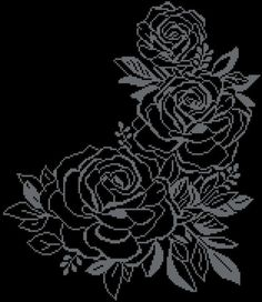 This neat and tender cross-stitch pattern is pretty large, but easy and fast-to-. Pdf Patterns, Beading Patterns, Embroidery Patterns, Cross Stitching, Cross Stitch Embroidery, Cross Stitch Patterns, Cross Stitch Rose, Cross Stitch Flowers, Broderie Bargello