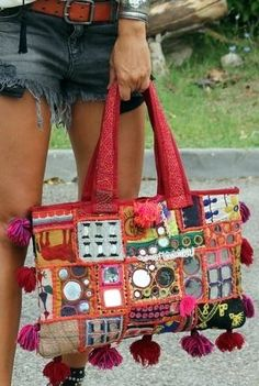Hippie Bags, Boho Bags, Leather Bags Handmade, Handmade Bags, Embroidered Bag, Patchwork Bags, Denim Bag, Fabric Bags, Summer Bags