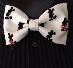 Mickey Mouse Clip On Bow Tie by TiedInaKnotBowtique on Etsy, $15.00