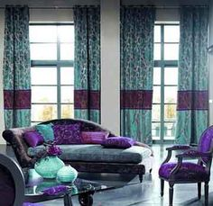 Blue And Purple Rooms to the extreme ~ wow! purple and blue bedroom, created