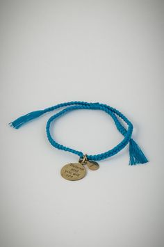 """Blue bracelet with golden pendant """"Believe and you will see"""". See You, Turquoise Bracelet, Believe, Gold, Pendant, Bracelets, Blue, Jewelry, Style"""