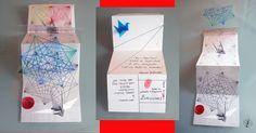 Técnica mista: desenho, impressão, transparência e origami.  Na maioria das convocações de arte postal de que ando participando, sempre tento colocar o origami e o tsuru como elementos gráficos nos postais. Nessa participação, eu utilizei as CPs que desenhei, do tsuru. https://yamashitatereza.wordpress.com/parceria-filiperson-artista-qualificada/