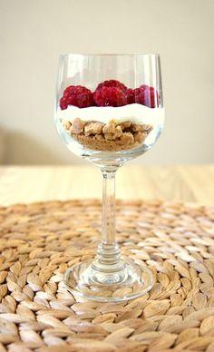 Raspberry Parfait. Visit my blog ;)