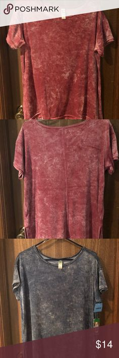 Green Tea Crushed Velour Tops Pink is NWOT and Blue is NWT. Really cute and warm tops. Good for either work or play. Green Tea Tops Blouses