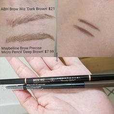 ABH Brow Wiz = Maybelline Brow Precise Micro Pencil #dupe