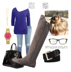 """""""Fall in Miami"""" by graciep0o on Polyvore featuring Frame Denim, Black Diamond, Hermès, Charlotte Russe, Kate Spade, Gorjana, Vince Camuto and GlassesUSA"""