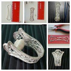 by oya filigre Filigree Jewelry, Filigree Earrings, Sterling Silver Filigree, Filigree Ring, Metal Jewelry, Silver Jewelry, Diy Jewelry Tools, Jewelry Crafts, Jewelry Art