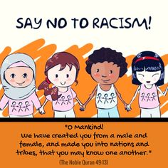 No racism in Islam! #Quran #NoRacism #IslamicFaith