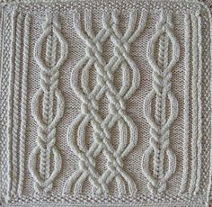Alinti Ravelry: A Celtic Quilt 1 pattern by Luise O'Neill Cable Knitting Patterns, Loom Knitting, Knitting Stitches, Knitting Needles, Knit Patterns, Hand Knitting, Stitch Patterns, Celtic Quilt, Stitch Design