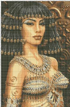 Donna Egiziana - Egyptian Woman  ...This is a cross stitch??  Wow!