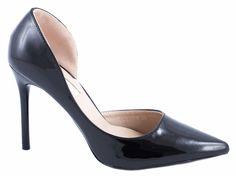 Pantofi cu toc - Pantofi negri cu toc J5764-6N - Zibra