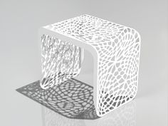 CORAL SIDE TABLE / STOOL (INDOOR/OUTDOOR)  Materials: Powder-coated laser-cut steel Dimensions: 20W x 20D x 20H  Options: Custom color, custom size, finish, glass or acrylic top