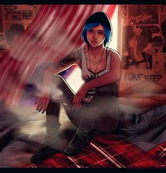 Life Is Strange Fanart, Life Is Strange 3, Virtual Insanity, Arcadia Bay, Dontnod Entertainment, Blue Haired Girl, Cry Now, Chloe Price, He Is Able