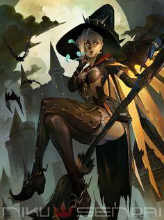 Witch Mercy - Overwatch, Nick Silva on ArtStation at https://www.artstation.com/artwork/9ZQmL