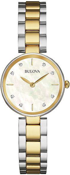 Zegarek damski Bulova Diamond 98S146 - sklep internetowy www.zegarek.net