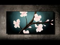 Cherry Blossom Painting With Soda Bottle | The WHOot
