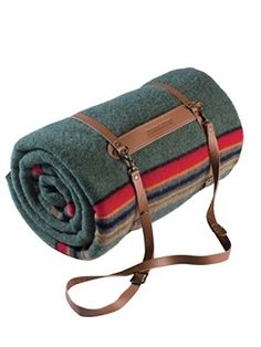 Cozy blankets are a must for autumn camping. And why not carry it in style?