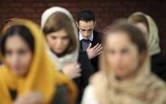 Iranian Christians in a service in Tehran (Associated Press/Photo by Vahid Salemi)