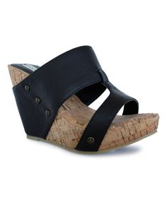 This Black Aaron Wedge by Groove Footwear is perfect! #zulilyfinds