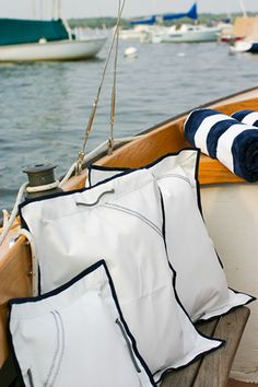 Personalized Pillow covers with your boat name or your family name
