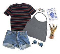 """""""disturbed"""" by kampow ❤ liked on Polyvore featuring Brixton and Levi's"""