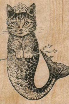 mer-cat, rubber stamp