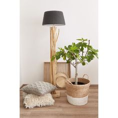 Met behulp van hout stel je zó een knus en warm hoekje samen! #interieur #hout #woonkamer #groen #planten #botanisch #kwantum