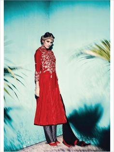 Red Party Wear Velvet Suit
