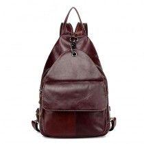 Dark Coffee Eeropean And American Style Waterproof Retro Calfskin Backpacks And Cross Bag(Fast Shipping) - Backpacks - Bags