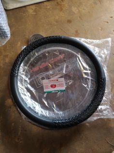jual sarung stir mobil -bisa untuk semua mobil -bahan semi kulit, warna hitam, tomato 082210151782