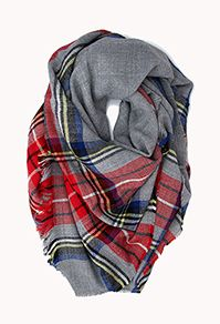 plaid tartan scarf || I have minor addiction to scarves. Love this plaid + leopard print