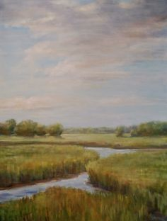 """""""Low Tide, Lazy August Afternoon"""" 48x36"""" oil on canvas www.christinadowdy.com"""