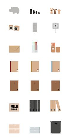 MUJI icons on Behance