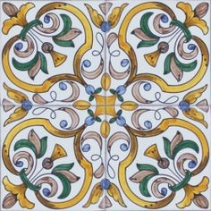 Portuguese Ceramic Tile | 2419 Portuguese Spanish wall floor ceramic tile azulejo BAROQUE ...