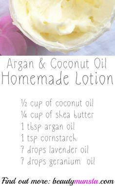 Argan Oil and Coconut Oil Mix for Skin – Luxurious Whipped Recipe