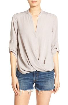 Lush Twist Front Woven Shirt available at #Nordstrom