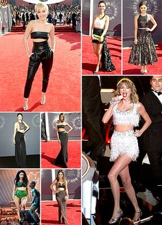 Among the many fashion trends (leather! cutouts! backless!) on the red carpet at the MTV VMAs, one ruled them all. The crop top was seen on just about every celebrity including Taylor Swift, Miley Cyrus, Lucy Hale and Victoria Justice.
