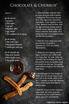 chocolate  churros recipe my-photography