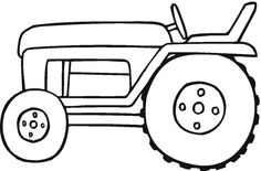 Small tractor Coloring page