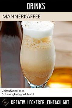 Wenn edler Rum, feinste Schokolade und kraftvoller Kaffee aufeinander treffen, dann entsteht dieser köstliche Cocktail! #männerkaffee #rum #cocktail #kaffee Foodblogger, Rum, Beer, Tableware, Recipes, Coffee, Reunions, Amazing, Simple