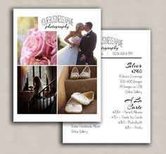 Wedding photography pricing template price guide by PixelsandPine
