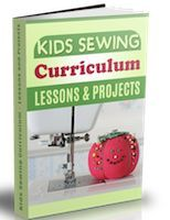 kids sewing lessons from beginner up, book available too