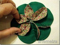 another clever flower. great for hand-sewing anywhere. click thru all the pages on that si… another clever flower. great for hand-sewing anywhere. click thru all the pages on that site. Hand Quilting Patterns, Patchwork Quilting, Sewing Patterns, Quilts, Sewing Crafts, Sewing Projects, Fabric Origami, Fabric Ornaments, Christmas Sewing